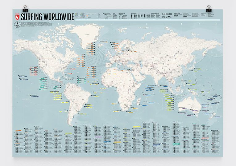 A map of surfing worldwide