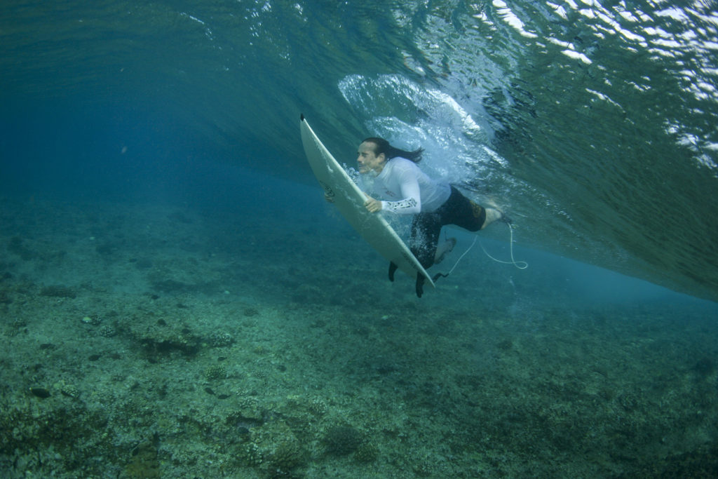 Surfing in Maldives