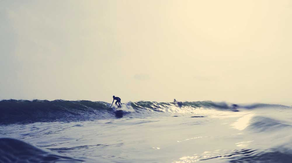 Weligama Beach, of the the best places to surf in Sri Lanka